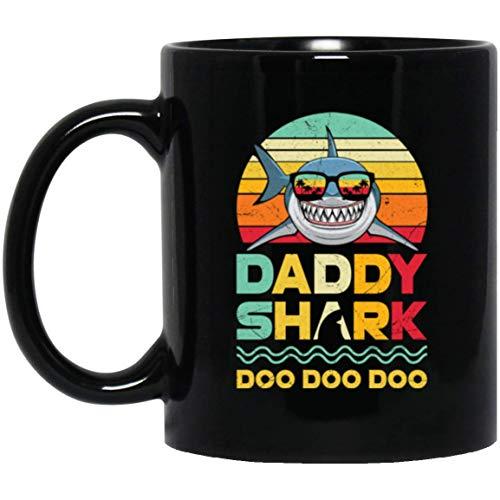 Retro Vintage Daddy Shark Doo Doo Halloween Coffee