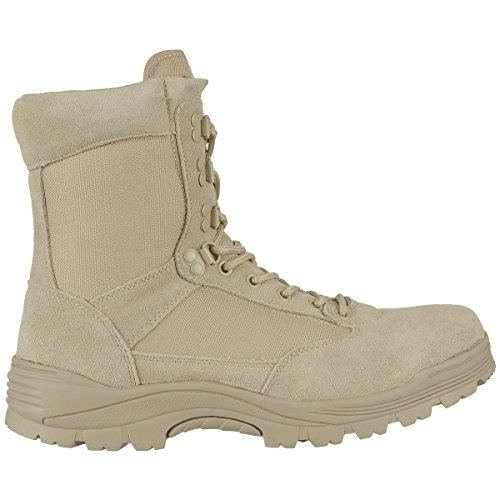 Mil-Tec Tactical Side Zip Botas Khaki Caqui