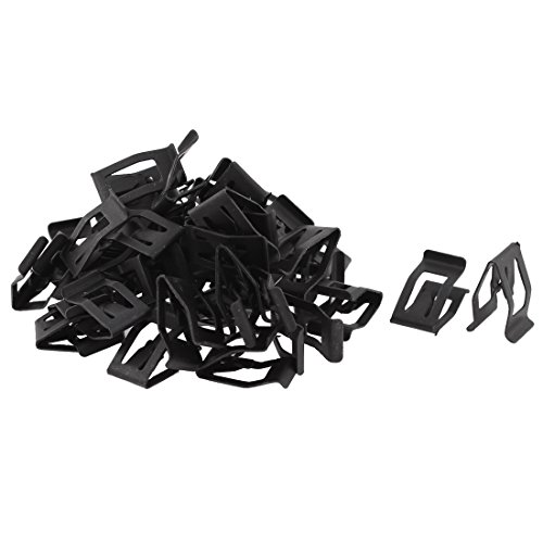 uxcell a15100800ux0171 50Pcs Auto Car Front Interior Console Dash Dashboard Metal Retainer, 50 Pack