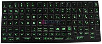 Pegatinas verde fluorescentes para el teclado
