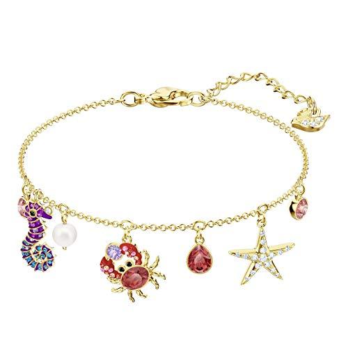 Multi Bracelet Colored Gold - Swarovski Ocean Bracelet, Multi-Colored, Gold Plating 5457760