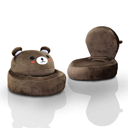 Cute,Super Soft and Adorable Kritter Kid's Plush Bear Folding Kids Chair,Perfect Piece to Add Fun to a Playroom,Kids Room and School,Wonderful Gift Idea,Brown