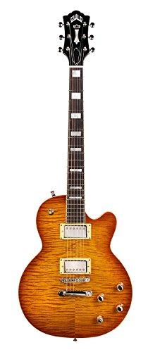 Guild Bluesbird Solid Body Electric Guitar with Gig Bag (Iced Tea Burst)