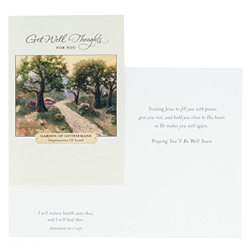 DaySpring Get Well Greeting Cards w Embossed Envelopes - Thomas Kinkade, 12 Count Photo #5