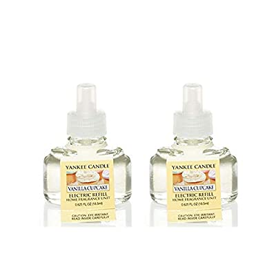 Yankee Candle Set of 2 Vanilla Cupcake Electric Home Fragrance Scent Plug Refill Bottles - 2 Refills