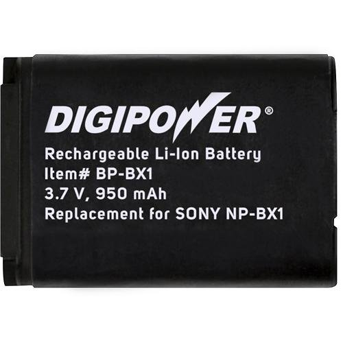 DigiPower BP-BX1 Digital Camera Battery, Replacement for Sony NP-BX1 (Black)