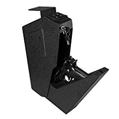 Desk-Mounted Firearm Safety Device 1.Easily program personal code in seconds 2.Fast-activation drop-down drawer for quick access 3.Precise fittings are virtually impossible to pry open with hand tools 4.Protective foam-lined interior 5.Multip...