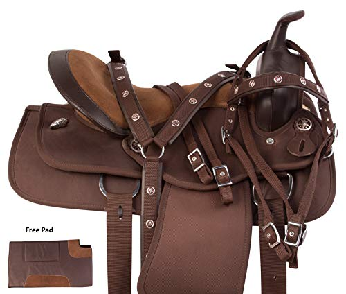 (AceRugs Western Cordura Pleasure Trail All Purpose Show Horse Saddle TACK Package (17))