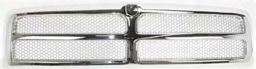 CPP Chrome Shell w/ Silver Insert Grille Assembly for Dodge Ram CH1200178