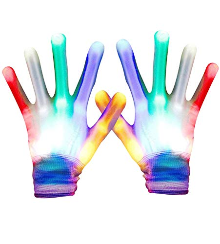 Toys for Teen Girls Boys, Viposoon LED Flashing Gloves Novelty Gifts for Kids Best Gifts Toys for 10-15 Years Old Boys Girls Halloween Costume Christmas Birthday Glow Party Favor (Christmas Gift 14 Old Year Boy Ideas)