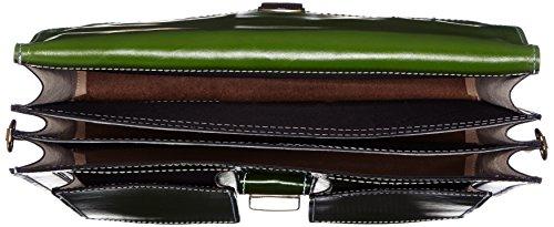 Borsa Bags4Less unisex adulto Pisa valigetta portatile, verde (verde scuro), 14 x 30 x 40 cm