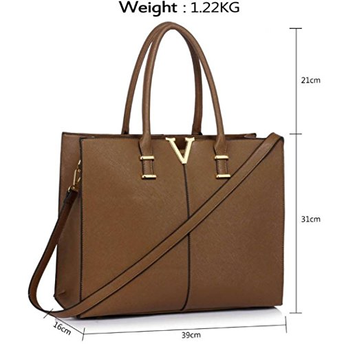 Women's 319 Faux Tote School Shoulder Leather Quality Bag Handbags Taupe For Bags LeahWard Holiday gCwEqd7Xg