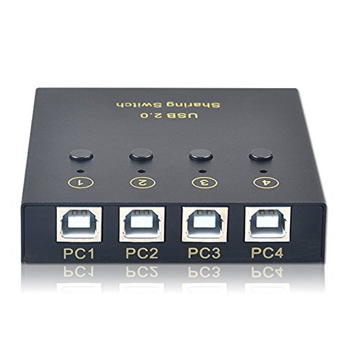 USB2.0 printer sharing 4 Port computer 2 USB output manual s