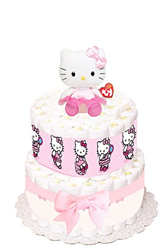 Hello Kitty Themed Diaper Cake - SMALL VERSION by Just For Your Baby Boutique