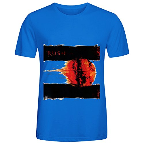 Rush Vapor Trails 80s Album Cover Mens Crew Neck 100 Cotton Shirts Blue (Vapor Comp compare prices)