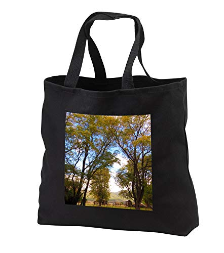 Jos Fauxtographee- Autumn Time - Foliage in Fall on some trees in Pine Valley Utah with an old shed - Tote Bags - Black Tote Bag JUMBO 20w x 15h x 5d (tb_308197_3)