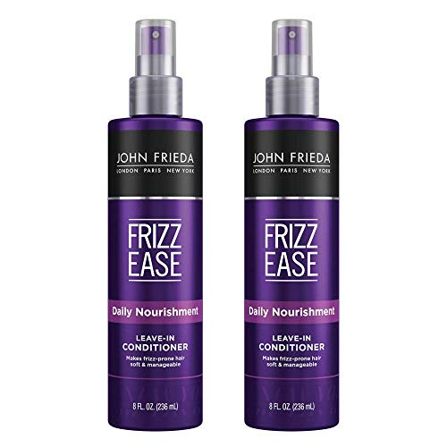 John Frieda Frizz Ease Daily Nourishment Leave-in Conditioner, 8 Ounces (Pack of 2) (Best Frizz Control Products For Curly Hair)