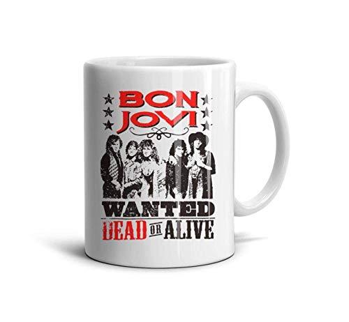 Bon-Jovi-Rock-Band-This-is-Our-House- Classic Coffee Mugs 11oz Ceramic Tea Cups,Bon Jovi Cowboy,One Size