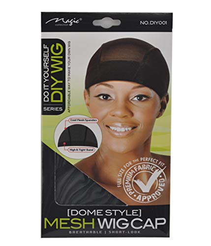 Magic Do It Yourself (Dome Style) Mesh Wig Cap, Spandex, mesh, tight band, cool mesh, breathable material, comfortable, soft, hair extensions, wig, weave, perfect fit, premium fabric, fabric