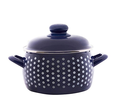 Enamel Stock Pot Sweet Pea Enamel Cooking Pot Enameled Pot (5.6-qt. (5.3 L)) (Enamelware Stock Pot)