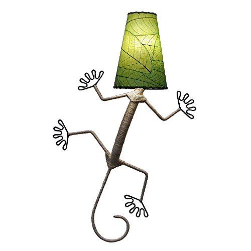 Gecko Wall Lamp - Eangee Home Designs Wall Sconce Lamp Light Gecko - Color Green