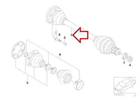 Amazon Com 2 X Bmw Oem Axle Output Shaft Assembly E30 33 21 1 226