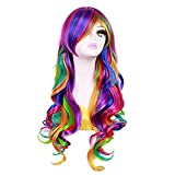 """S-ssoy Women's 70cm/27"""" Long Curly Multicolor Full Wig Heat-Resistant Japanese Harajuku/Lolita Style Cosplay Hair For Party/Costume"""