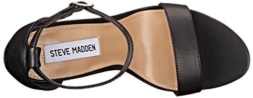 Sandal Black Madden Steve Carrson Dress Women's Leather q7IOIwxPgC