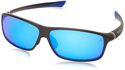 Tag Heuer 27 Degree 6024 104 6024104 Polarized Rectangular Sunglasses, Blue Metallic,Grey,Grey & Blue Flash, 66 - Sunglasses Tag