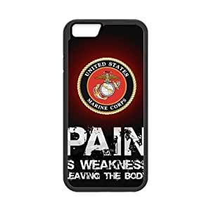 USMC Marine Corps Logo & Pain Is Weakness Leaving The Body Iphone 6 New Style Durable Case Cover by icecream design