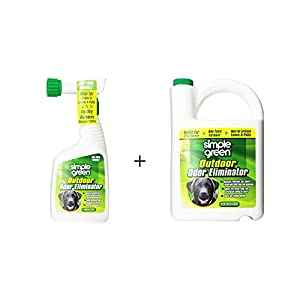 SIMPLE GREEN Outdoor Odor Eliminator for Pets, Dogs, Ideal for Artificial Lawns & Patio (32 Ounce Hose End Sprayer and 1 Gallon Refill) 28