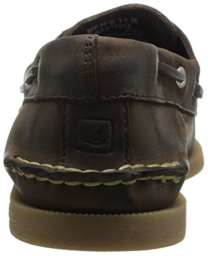 Sperry Top-sider Mens A / O Scarpe Da Barca Con Due Lacci Incrociati Marrone Scuro