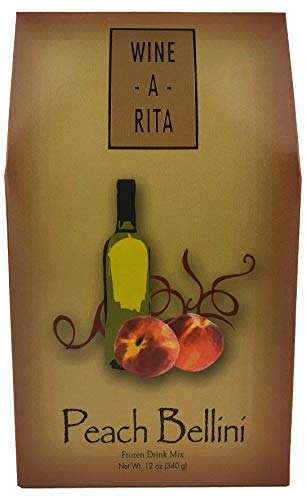 (Wine-A-Rita Peach Bellini Frozen Cocktail Mix, 12 Ounce Pack, Makes 72)