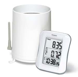 Oregon Scientific RGR682 Wireless Rain Gauge with 10-Day Rainfall Memory and Digital Clock
