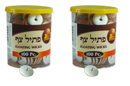 Standard Round Floating Wicks - 2 x 100 Pack- by Ner Mitzvah
