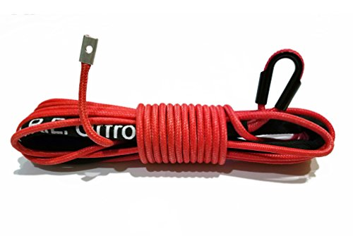 Poly Cable Rope (Arachni Recovery Equipment Synthetic Winch Rope Line Cable 1/4