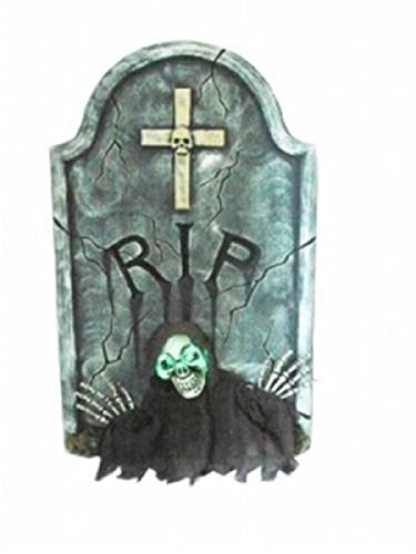 2 ft RIP Tombstone with LED Lights - Halloween Decor - Indoor Outdoor