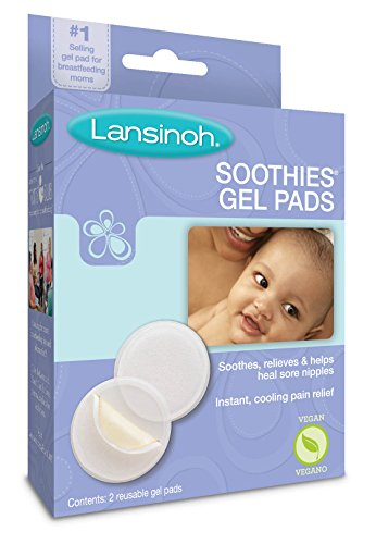 Large Product Image of Lansinoh Soothies Gel Pads for Breastfeeding, 2 Count, Soothing Relief for Moms With Cracked and Sore Nipples