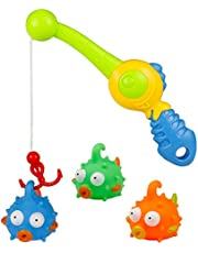 YP Bath Toys Fishing Bathtime Game with Fun Floating Fish Toy and Fishing Rod Best Gift for Baby Boys Girls Kids 2 3 4 5 Year Olds