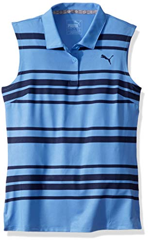 - Puma Golf 2019 Girl's Stripe Polo, ULTRAMARINE, Large