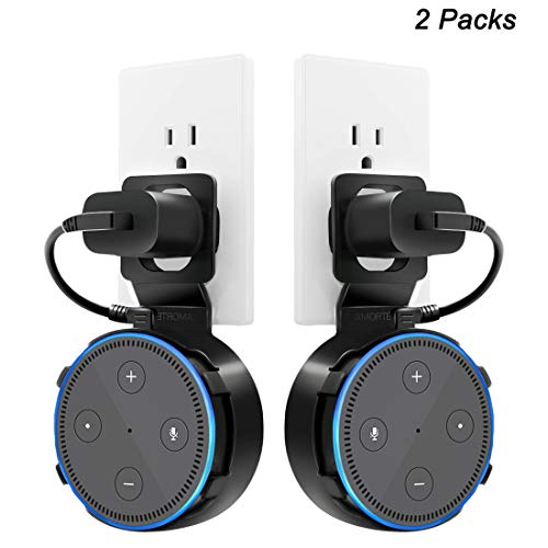 Dot 2nd Generation Wall Mount, A Space-Saving Dot Accessories for Dot (Black 2-Pack)