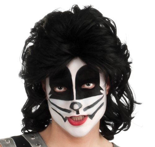 Kiss The Catman Adult Wig, Black, One Size