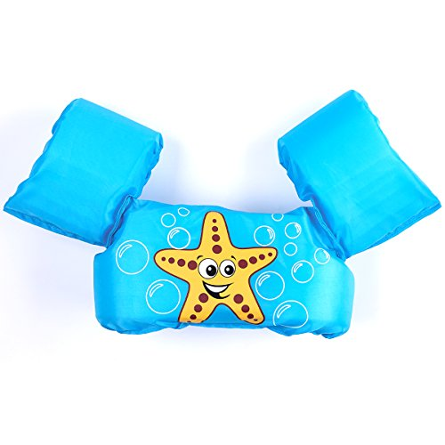 Summer Win Puddle Jumper Child Swim Life Jacket Learn to Swim Aid Floatation Life Vest for Kids Toddlers Swim Safty (30-50lbs) (No.10-Starfish)