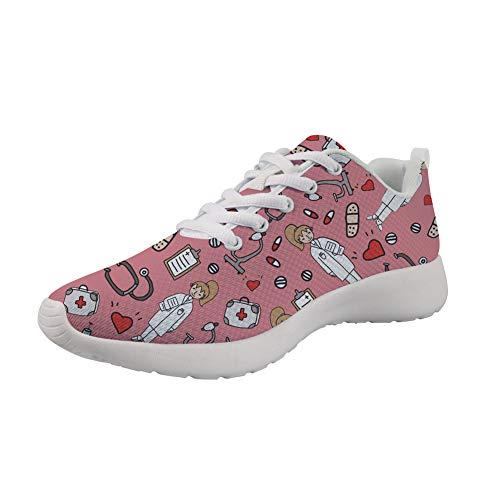Design Zapatillas Mujer Showudesigns Para Nurse Pink wYqIxzZx