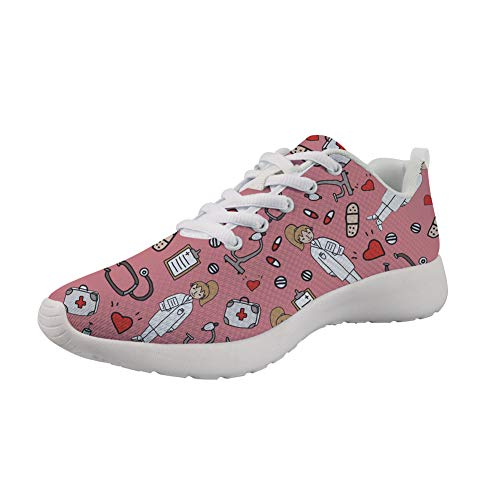 Nurse Zapatillas Design Showudesigns Mujer Para Pink w6xpft1T