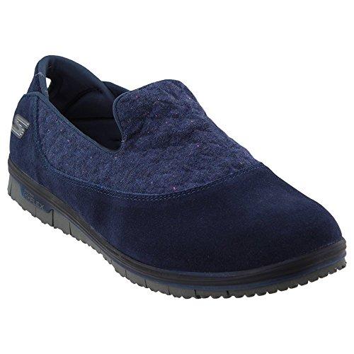 Skechers Performance Women's Go Mini Flex-14983 Walking Shoe,Navy,7 M US by Skechers