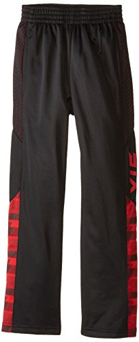 - STX Little Boys' Tricot Pull On Sport Pant, TC21-Black/Stripe Engine Red, 5/6