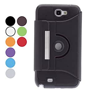 360 Degree Rotatable Protective PU Case for Samsung Galaxy Note 2 N7100 (Assorted Colors) --- COLOR:Green