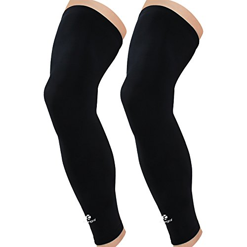 Kuangmi Leg Compression Sleeve Breathable UV Sun Protection Basketball,Running,Cycling,Pain Relief,Shin Splints , XX-Large