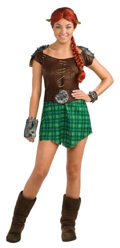 [Shrek Deluxe Fiona Warrior Costume, Green, Standard] (Warrior Fiona Costumes)